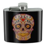 Skull Day of the Dead Southwestern Stainless Steel 5oz Hip Drink Kidney Flask