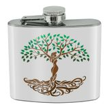 Tree of Life Mother Nature Stainless Steel 5oz Hip Drink Kidney Flask