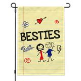 Besties Best Friends Garden Yard Flag