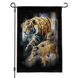Orange Bengal Tigers Garden Yard Flag
