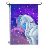 Majestic Unicorn Pink Purple Blue Garden Yard Flag