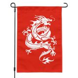 Tribal Dragon Asian Garden Yard Flag