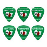 Fleece Feliz Navidad Sheep Christmas Holiday  Novelty Guitar Picks Medium Gauge - Set of 6