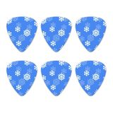 Snowflakes Winter Novelty Guitar Picks Medium Gauge - Set of 6