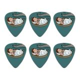 Baby Moses in a Basket Christian Novelty Guitar Picks Medium Gauge - Set of 6