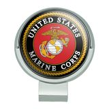 Marines USMC Emblem Black Yellow Red Officially Licensed Golf Hat Clip With Magnetic Ball Marker