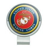 Marines USMC Logo Blue Red Gold Officially Licensed Golf Hat Clip With Magnetic Ball Marker