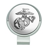 Marine Corps USMC Black White Eagle Globe Anchor Logo Officially Licensed Golf Hat Clip With Magnetic Ball Marker