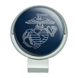 Marine Corps USMC Gray on Blue Eagle Globe Anchor Logo Officially Licensed Golf Hat Clip With Magnetic Ball Marker
