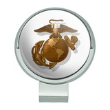 Marines USMC Golden Logo on White Eagle Globe Anchor Officially Licensed Golf Hat Clip With Magnetic Ball Marker