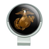 Marine Corps USMC Golden Logo on Black Eagle Globe Anchor Officially Licensed Golf Hat Clip With Magnetic Ball Marker