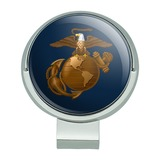 Marines USMC Eagle Globe Anchor on Blue Officially Licensed Golf Hat Clip With Magnetic Ball Marker