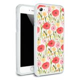 Wild Garden of Flowers Pattern Protective Slim Fit Hybrid Rubber Bumper Case Fits Apple iPhone 8, 8 Plus, X, 11, 11 Pro,11 Pro Max