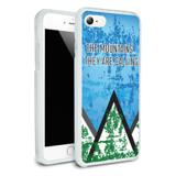 The Mountains They are Calling Hiking Nature Protective Slim Fit Hybrid Rubber Bumper Case Fits Apple iPhone 8, 8 Plus, X