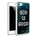 God is Good Christian Inspirational Religious Protective Slim Fit Hybrid Rubber Bumper Case Fits Apple iPhone 8, 8 Plus, X