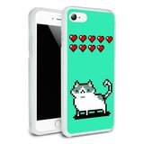 Nine Lives Cat Pixel Retro Game Protective Slim Fit Hybrid Rubber Bumper Case Fits Apple iPhone 8, 8 Plus, X