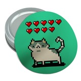 Nine Lives Cat Pixel Retro Game Round Rubber Non-Slip Jar Gripper Lid Opener