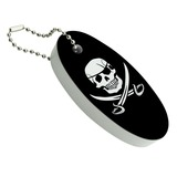 Pirate Skull Crossed Swords Jolly Roger Floating Foam Keychain Fishing Boat Buoy Key Float