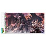Black Dragon Attacking Flying Fantasy Automotive Car Refrigerator Locker Vinyl Magnet