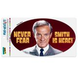 Never Fear, Smith is Here! Lost in Space Doctor Automotive Car Refrigerator Locker Vinyl Euro Oval Magnet