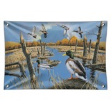 Ducks in the Lake and in Flight Home Business Office Sign