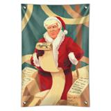 Santa Donald Trump with Naughty List Christmas Home Business Office Sign