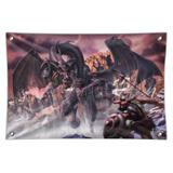 Black Dragon Attacking Flying Fantasy Home Business Office Sign