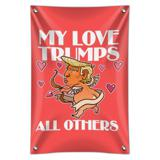 My Love Trumps All Others President Cupid with Hearts Valentine