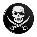 Pirate Skull Crossed Swords Jolly Roger Compact Pocket Purse Hand Cosmetic Makeup Mirror