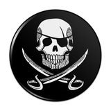 Pirate Skull Crossed Swords Tattoo Design Compact Pocket Purse Hand Cosmetic Makeup Mirror