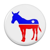 Democrat Donkey Liberal America Political Party Compact Pocket Purse Hand Cosmetic Makeup Mirror