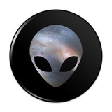 Alien Head in Space Compact Pocket Purse Hand Cosmetic Makeup Mirror