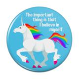 Unicorn The Important Thing is That I Believe in Myself Compact Pocket Purse Hand Cosmetic Makeup Mirror