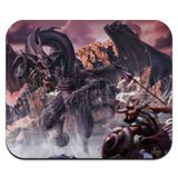 Black Dragon Attacking Flying Fantasy Low Profile Thin Mouse Pad Mousepad