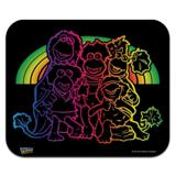 Fraggle Rock Retro Rainbow Low Profile Thin Mouse Pad Mousepad