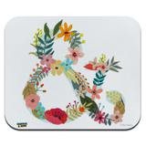 Ampersand & Floral Low Profile Thin Mouse Pad Mousepad