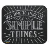 Enjoy the Simple Things Low Profile Thin Mouse Pad Mousepad
