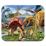 Dinosaurs Jurassic Collage T-Rex Stegasaurus Low Profile Thin Mouse Pad Mousepad