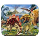Dinosaurs Jurassic Collage T-Rex Stegasaurus Low Profile Thin Mouse Pad Mousepad