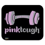 Pink Tough Barbell Cancer Logo Low Profile Thin Mouse Pad Mousepad