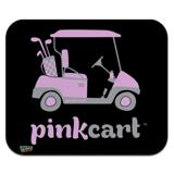 Pink Golf Cart Logo Low Profile Thin Mouse Pad Mousepad