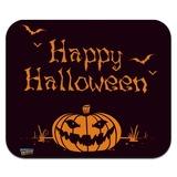 Happy Halloween Holiday Pumpkin Jack-o-lantern Bats Low Profile Thin Mouse Pad Mousepad