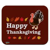 Happy Thanksgiving Turkey Low Profile Thin Mouse Pad Mousepad