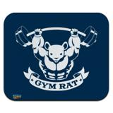 Gym Rat Workout Weight Lifting Low Profile Thin Mouse Pad Mousepad