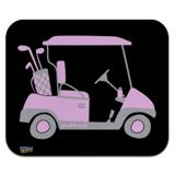 Pink Golf Cart Low Profile Thin Mouse Pad Mousepad