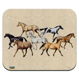 Horses of Different Colors Low Profile Thin Mouse Pad Mousepad