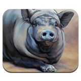 Big Large Happy Pig Hog Low Profile Thin Mouse Pad Mousepad