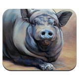 Big Large Happy Pig Hog Low Profile Thin Mouse Pad Mousepad