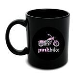 Pink Bike Motorcycle Chopper Logo Black Mug