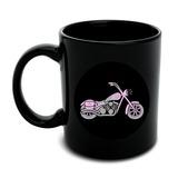 Pink Bike Motorcycle Chopper Black Mug